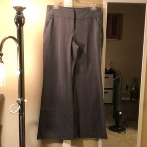 New York and Co wide leg pants in gray- petite